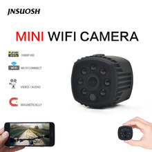 Mini Camera Wifi IP with Motion Sensor 1080P Mini Camera Wifi HD Night Vision for iphone Android Video Security Magnetic Clip