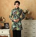 Moda vestido Casual da Nova Primavera Autuman MN0088 Tradicional Estilo Chinês Casaco de mulheres Verde