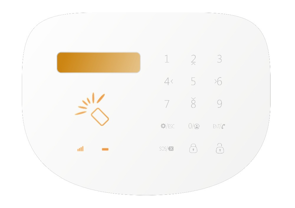 LCD Touch Keypad Wireless Home Burglar Alarm System 433MHZ remote control Android/IOS Alarm System work with wireless PIR motion lcd touch keypad quad4 bands wireless