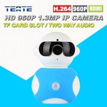 960 P HD 1,3-мегапиксельная P2P Plug & Play Беспроводная Ip-камера Pan/Tilt с двухстороннее аудио TF Карта Micro Sd Слот Бесплатное ПРИЛОЖЕНИЕ Радионяня