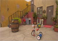 El Chavo Del Ocho Nuestra Stair House Yard staircase room Backgrounds Vinyl cloth High quality Computer printed wall backdrop