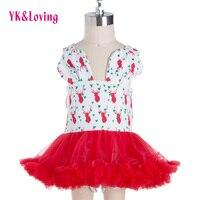 YK & Liebevolle Neue Mode Weihnachten Kleid Mädchen Tüll Kleider Strampler Tutu Mädchen Insgesamt mit Windel Abdeckung Weihnachten kleidung