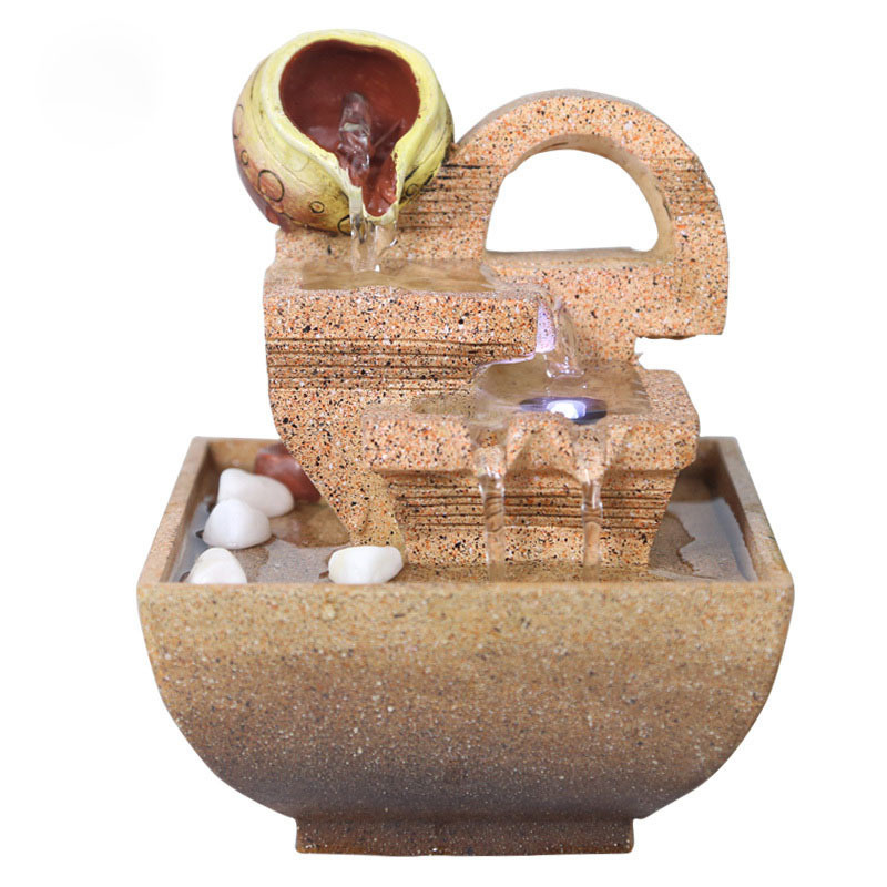 Decorative Indoor Water Fountains Office Desktop Gift Home Decorations Humidification Artificial Stones Craft 110V 220V A $ in Figurines Miniatures from Home Garden