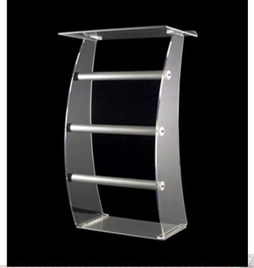 Hecho de acrílico púlpito podio atril de clase podio atril de plexiglás púlpito de cristal acrílico atril