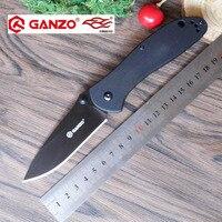 58 60HRC Ganzo G7393 440C Blade G10 Handle Folding Knife Survival Camping Tool Hunting Pocket Knife