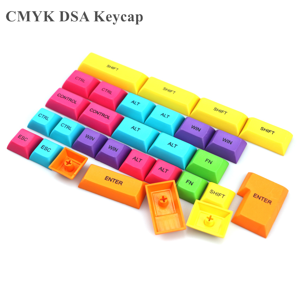 Pbt Dsa Key Cap OEM Keycap Dye Subbed Colorful Keycaps Modifier For Diy Gaming Mechanical Keyboard Cherry Switch