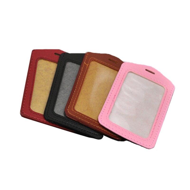 PU Card Case Holder Portable String ID Bus Identity Badge Porte Carte Credit A