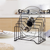 Useful Pot Lid Rack Stainless Steel Cutting Board Stand Pan Cover Storage Shelf Holder Kitchen Organizer