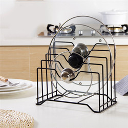 Useful Pot Lid Rack Stainless Steel Cutting Board Stand Pan Cover Storage Shelf Holder Kitchen Organizer Tools