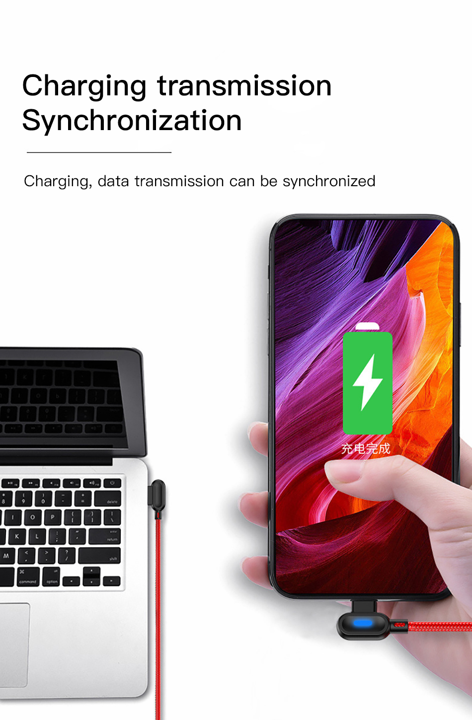 !ACCEZZ 90 Degree Micro USB Cable Fast Charging For Xiaomi Redmi Note 5 Pro Samsung S6 S7 Huawei Tablet Android Data Sync Cables (6)