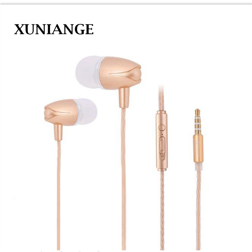 XUNIANG new universal in-ear headphones Tuning earplugs Subwoofer mobile phone headset remote control with wheat