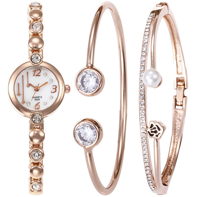 Women's Jewellery Sets with Watch, Necklace and 2Earrings in Gift Box