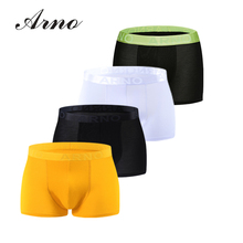 ARNO Mens 4Piexe Fashion Boxer Comforle underwear breathable Soft Panties