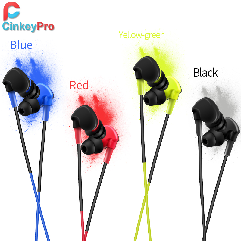 CinkeyPro Sport Earphone Headphone With Microphone Volume Control Gaming Ear Earbuds For Xiaomi iPhone 7 6 Computer Universal cinkeypro mini bluetooth headset 4 1 wireless invisible sport earphone car ear earbuds for iphone 7 6 computer universal