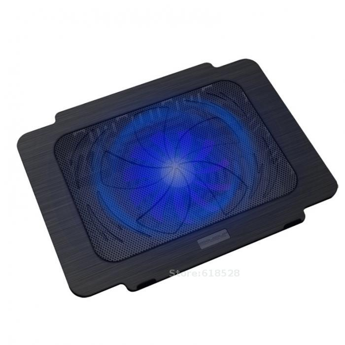 CoolCold Brand USB Super Ultra Thin Laptop Cooling Pad Notebook Radiator Fan Notebook Cooling Pad Laptop Cooler Pad 1