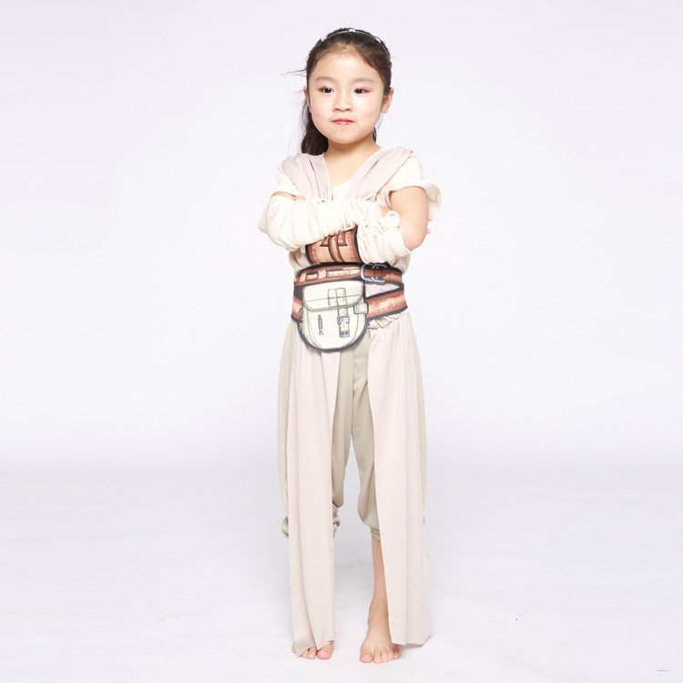 The Force Awakens Fancy Girls Classic Movie Charater Carnival Child Rey Costume 2018 New Cosplay Halloween Costume fancy dress