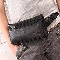 Alta Calidad de la Primera Capa de piel de Vaca Cuero Genuino Hombres Fanny Paquete de La Cintura Bolso Pecho Hip Cinturón bolsa de Viaje Bolsa de Mensajero Del Hombro Masculino