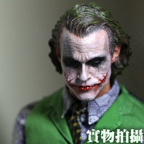 1:6 male Figure accessories Batman JOKER Heath Ledger head shape carved for 12 Action figure doll,not include body;clothes 1 6 figure doll male clothes batman joker robbers clothing for 12 action figure doll accessories not include doll and other