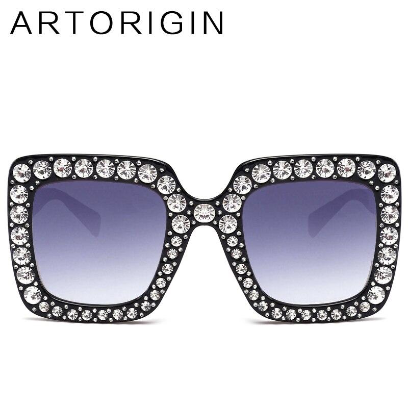 ARTORIGIN Brilhando Diamante Óculos De Sol Das Mulheres de Design Da Marca  Flash Praça Shades Espelho Óculos de Sol de Luxo Feminino Oculos Luneta em  Óculos ... 20d519628d