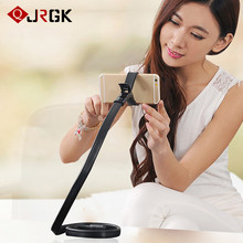 JRGK Lazy Bracket Snake Bed Neck Mobile Phone Holder Universal Flexible 360 Degree Rotating Cell Arm Cell Phones Holders Stands