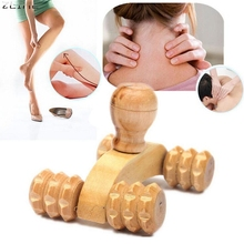 Beauty Girl Hot New Wooden Car Roller Massage Reflexology Hand Foot Back Body Therapy Relaxing Gifts