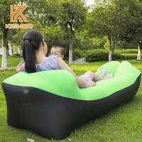 2017 Outdoor Rapid Inflatable Portable Air Beach Bed Camping Sofa Banana Bean Bag Sleeping Bags Beach