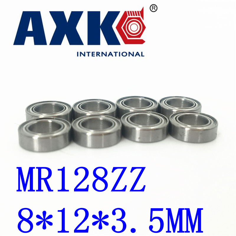 Axk Free Shipping 10 Pcs <font><b>Mr128zz</b></font> Abec-5 8x12x3.5 Mm Deep Groove Ball Bearings Mr128 / L-1280 Zz image