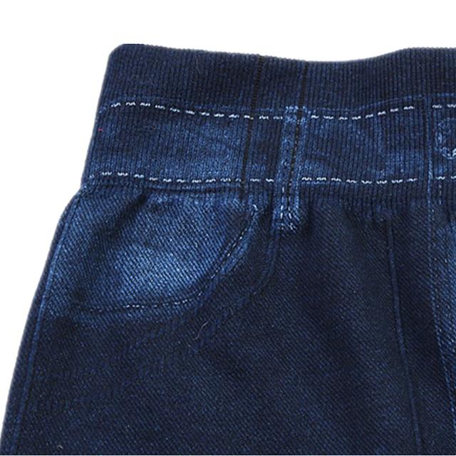 Denim Jeans Knitted Ruched Full-Length Spandex Striped Mid Waist Jean Print Slim Jeans Leggings Women