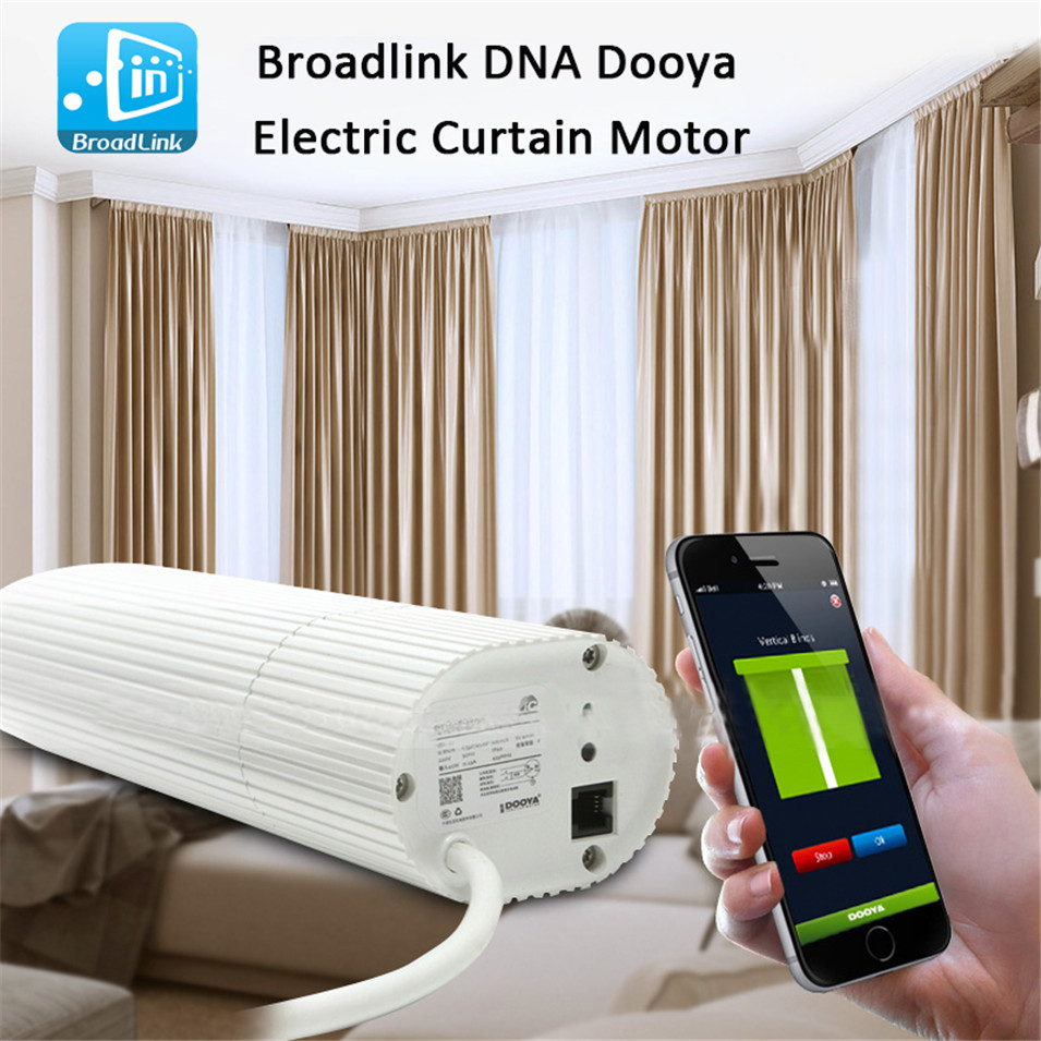 Broadlink DNA Dooya Curtain Motor DT360E 45W+DC2760, WIFI Remote Control Curtain For Smart Home Automation System, IOS Android ewelink dooya electric curtain system curtain motor dt52e 45w remote control motorized aluminium curtain rail tracks 1m 6m