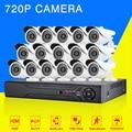 1080N AHD-NH 16CH DVR Kit CCTV Sistema de Vídeo 16x720 P conjunto De Câmera de Segurança Ao Ar Livre Indoor 1.0MP cctv 16ch sistema À Prova D' Água conjunto