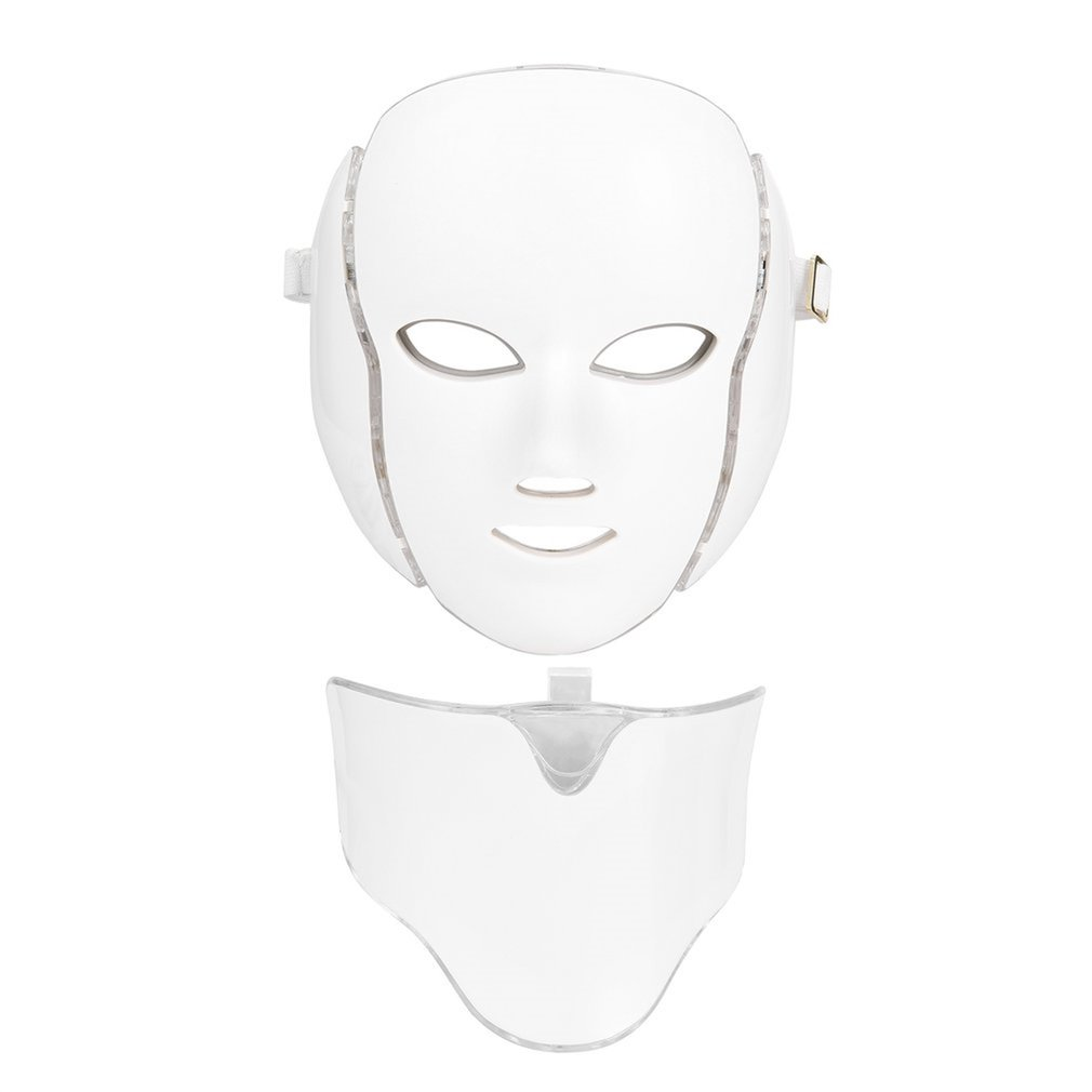 High Quality LED 7Colors Light Microcurrent Skin Rejuvenation Facial Mask Electric Device Dropshipping high quality precision skin analyzer digital lcd display facial body skin moisture oil tester meter analysis face care tool