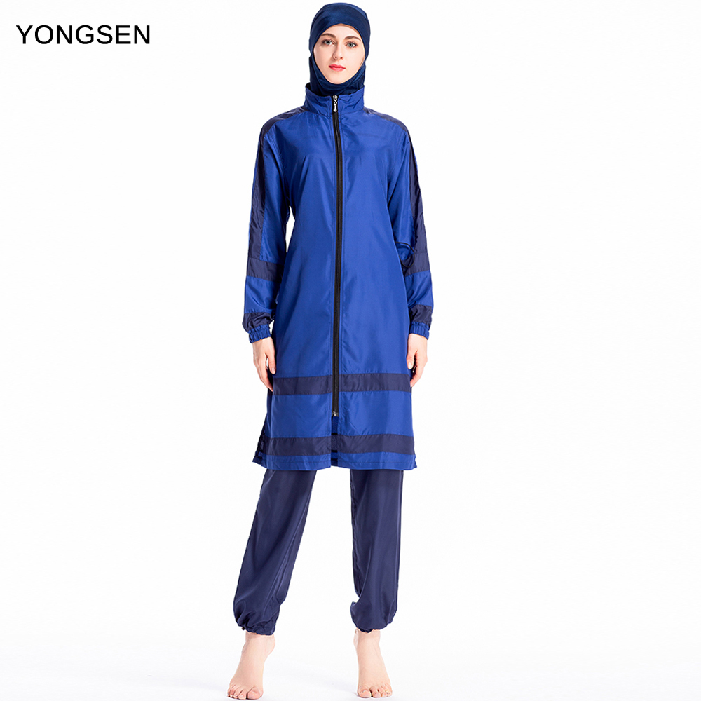 YONGSEN 2019 Arabian Swimsuit Ladies Hijab Burkinis Muslim Swimwear Long Sleeve Women Islamic Muslimah Swimsuit clothingYONGSEN 2019 Arabian Swimsuit Ladies Hijab Burkinis Muslim Swimwear Long Sleeve Women Islamic Muslimah Swimsuit clothing