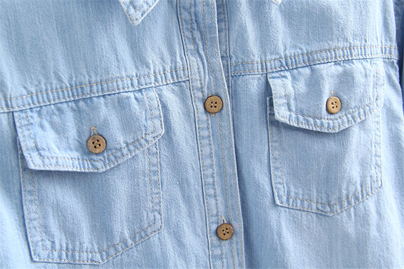 Q1279 ヴィンテージジーンズシャツ女性長袖プラスサイズジーンズシャツカジュアルストリート女性はデニムシャツブラウス女性服 Stop118 Dreawse 11