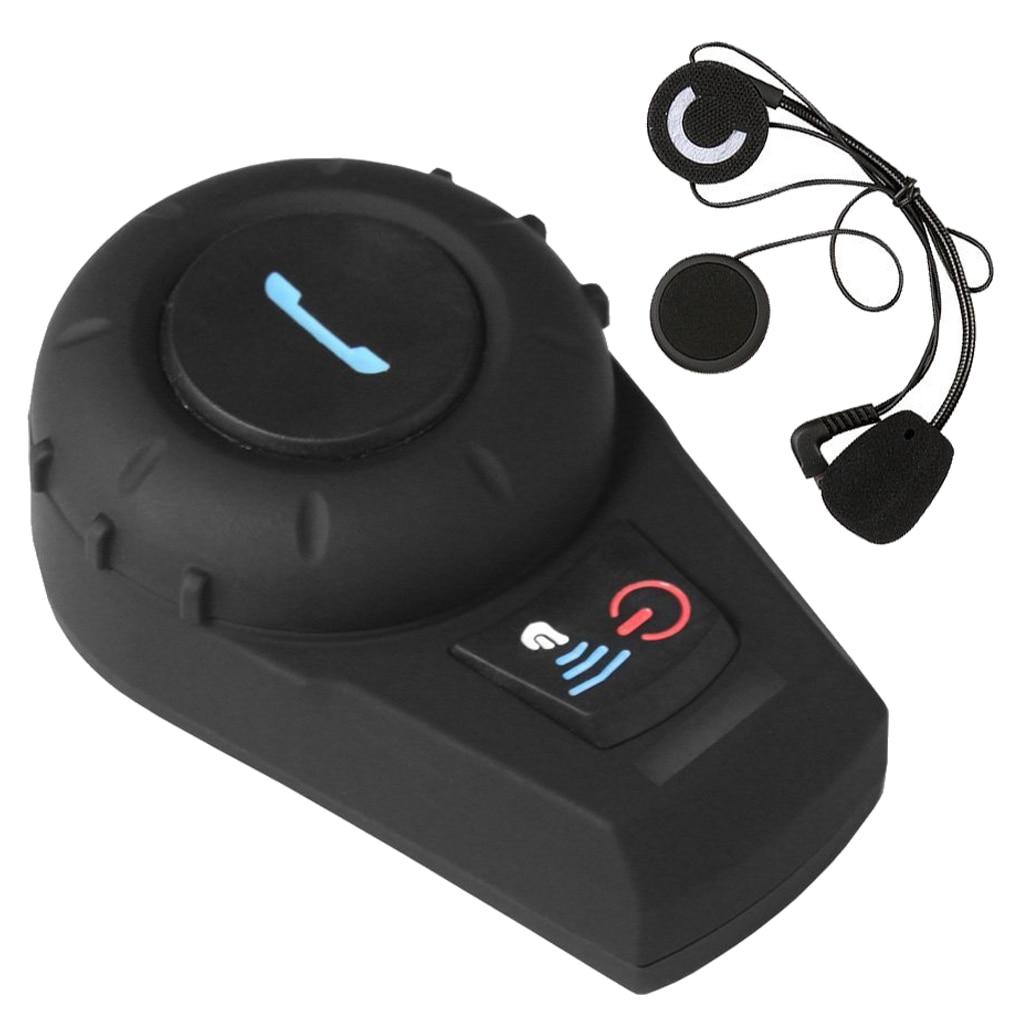 500 м Мотоциклетный шлем Bluetooth наушники гарнитура Беспроводной домофон Спорт бас Bluetooth наушники для сотового телефона