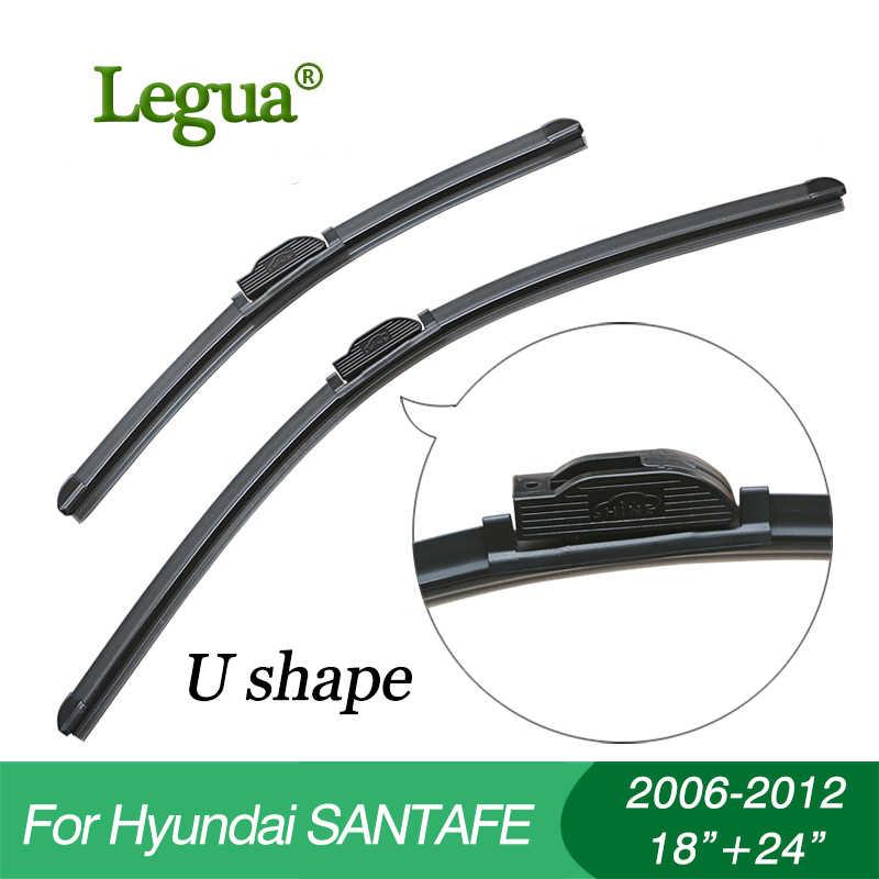 "Legua Wisserbladen Voor Hyundai Santafe (2006-2012), 18 ""+ 24"", auto Ruitenwisser, Been Wisser, Voorruit Ruitenwissers, Auto Accessoire"