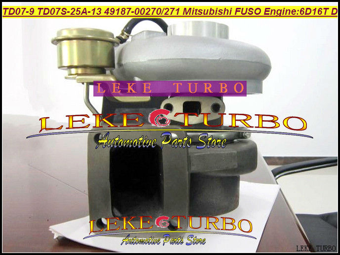 цены  Turbo TD07-9 TD07S-25A-13 49187-00271 49187-00270 ME073935 Turbocharger For Mitsubishi FUSO FM657 Truck 6.0L 1998- 6D16T 6D16 D