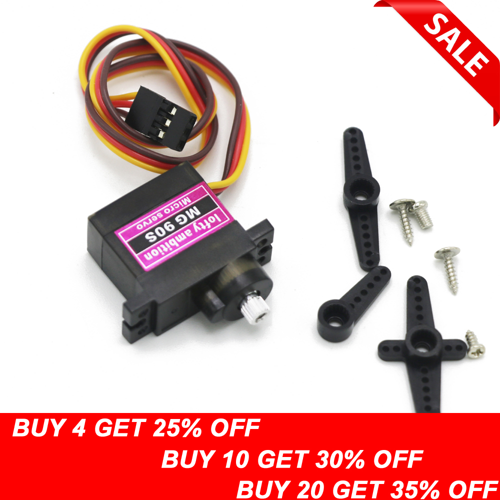 2 X MG90S Digital Micro Servo Motor Metal Gear For RC Helicopter Car Airplane l7