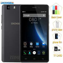 3g d'origine smartphone doogee x5 1 gb + 8 gb 5.0 pouce android 5.1 mt6580 quad core 1.3 ghz mobile téléphone gps un-gps wcdma téléphone portable