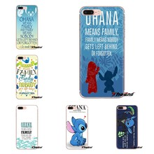 Escudo do telefone Cobre Lilo Ponto Ohana Significa Família Inspirado Para iPod Touch Da Apple iPhone 4 4S 5 5S SE 5C 7 6 6 S 8 X XR XS Mais MAX(China)