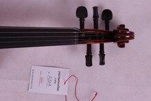 5 string 4/4 Violine Ebenholz teile Flamme Ahornboden Antike Lack Fichte Master Leistungsstarke Sound Pro + 504 #