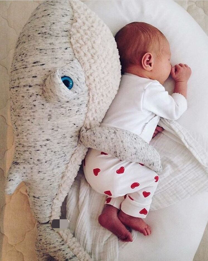 Baby Appease Sleep Pillow Plush Stuffed Toys Cute Animals Dolphin Soft Baby Pillow Room Bed Decoration Toys -30 cute 45cm stuffed soft plush penguin toys stuffed animals doll soft sleep pillow cushion for gift birthady party gift baby toy