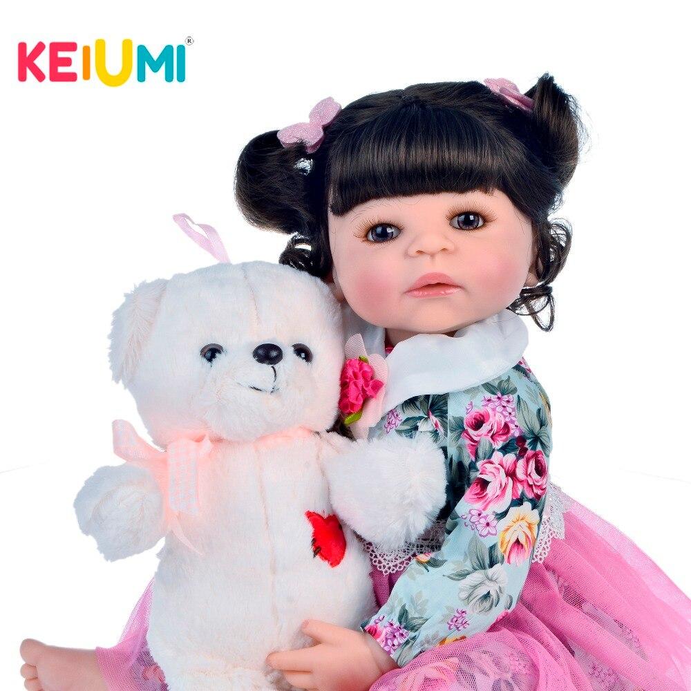 Lifelike 55cm Baby Girl Reborn Doll Vinyl Toy Realistic Princess 22 Full Silicone Reborn Baby Dolls