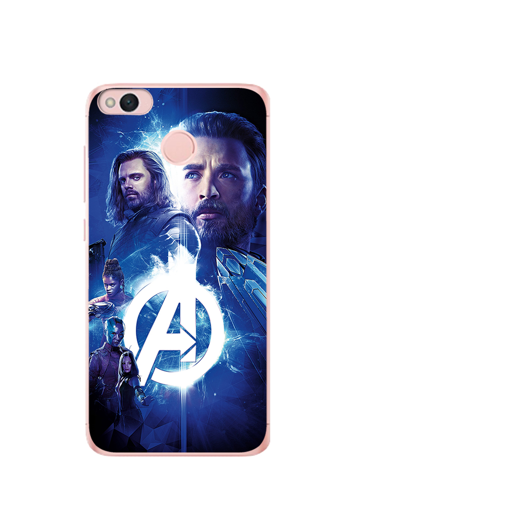 Marvel Avengers Heroes Iron Man Captain America Case For Xiaomi Redmi mi 8 Mi 9 Note 5A 6 4 A2 Lite A1 4X 6 4 4A 5X Etui Coque in Fitted Cases from Cellphones Telecommunications