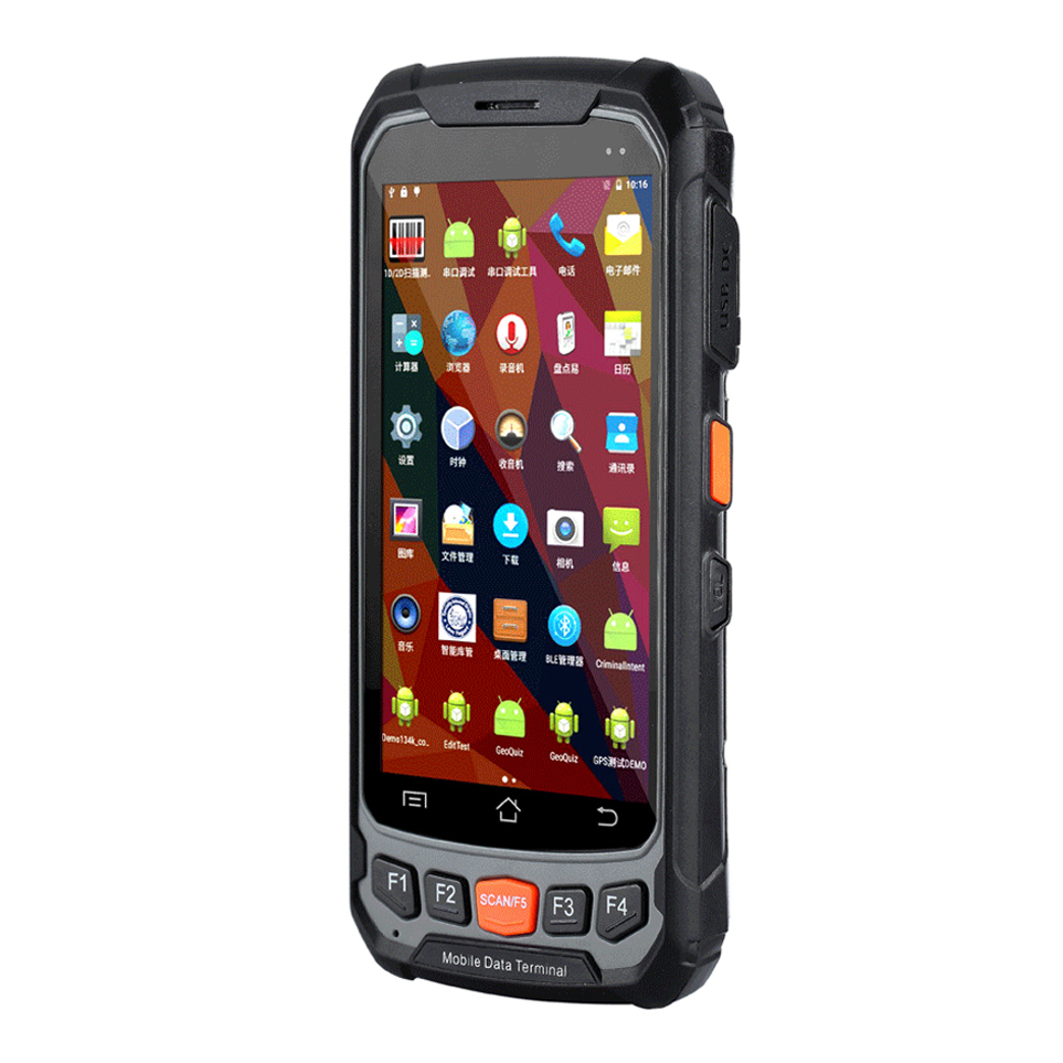 4G WIFI BT mobile data collector handheld android PDA 1D 2D barcode scanner with display support