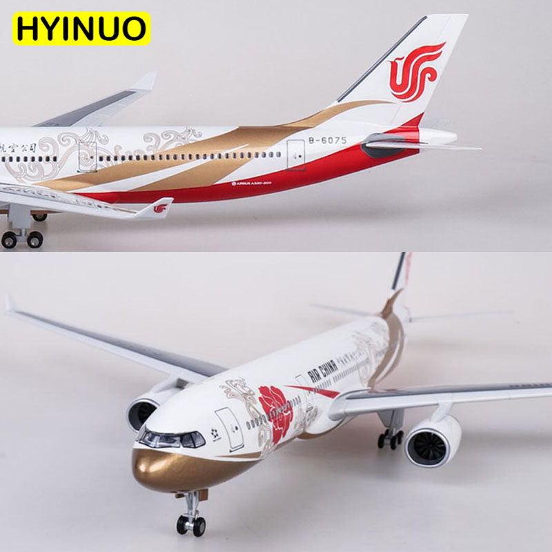 47CM 1 135 Scale Airbus A330 Model AIR China Airlines Airway W Base Wheel Lights Resin