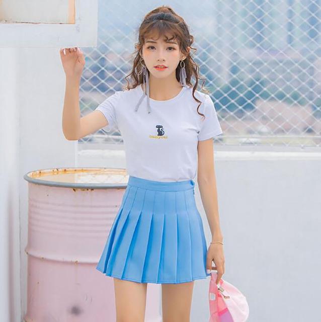 Women's Tennis Skirts Sports High Waist Pleated Boufancy Short Dress Badminton Volleyball Running Cheering Beach