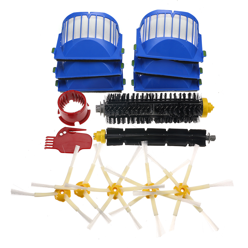 6-15 teile/satz Filter Pinsel Kit für IRobot Roomba 600 Serie 605 615 616 620 621 631 651 Reinigung werkzeuge Beater Pinsel Filter Kit