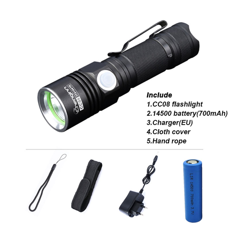 Led Linterna Bateria Y Cable De Carga Usb Incluidos Linterna Recargable H...