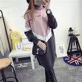 Де DoveHedging свитер женский длинный участок высоким воротником рубашки платье толстый зимний свитер женский зимние смешанные цвета
