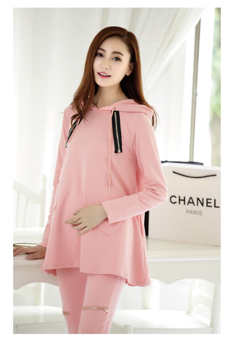 a7f9dd5f72d43 AfeiTony Hot 2018 Maternity clothing spring and autumn fashionable sports casual  loose maternity sweatshirt